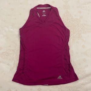 Adidas ClimaCool Sleeveless Fuchsia Top, Size Med